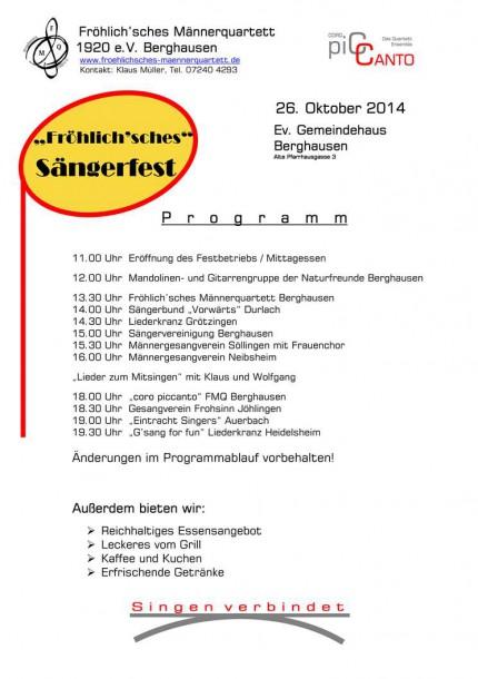 Fröhlich'sches Sängerfest 2014