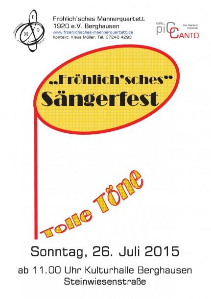 2015 sängerfest kulturhalle Vorderseite