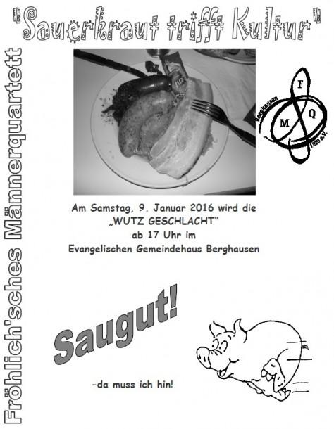 Einladung zum Schlachtfest am 9. Januar 2016